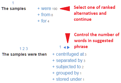 Construct the phrase word by word